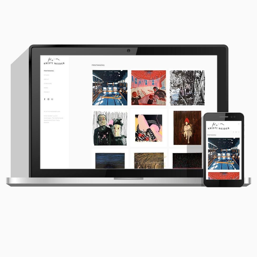 Kunst portfolio website